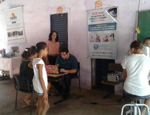Clínica Tércio Rezende realiza ação de prevenção contra o GLAUCOMA na ONG Moradia e Cidadania